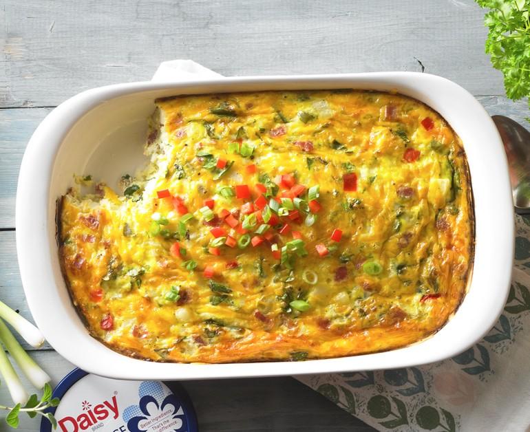 Baked Omelette Breakfast