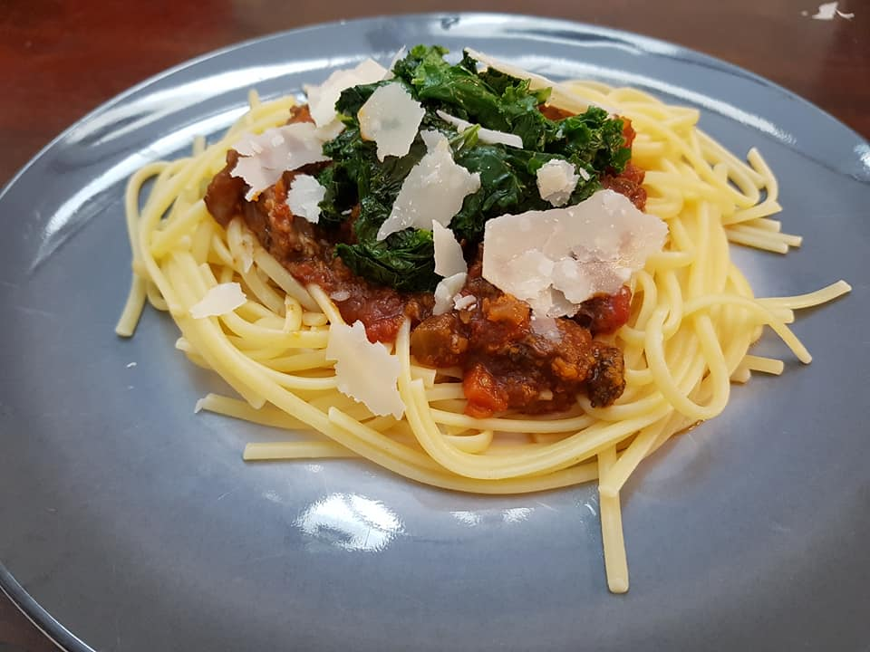 Beef Short Ribs Ragu, with Kale