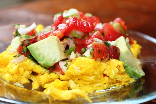 Eggs with Avocado & Salsa