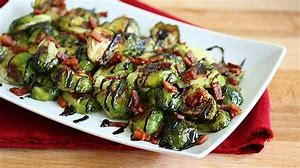 Grilled Brussels Sprouts with Bacon and Balsamic