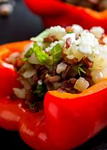 Bulgar stuffed sweet peppers.
