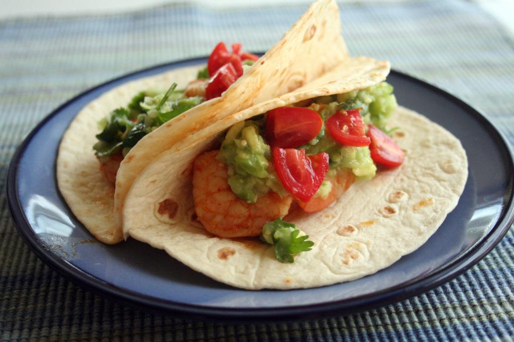 Chipotle Shrimp Tacos with Avocado Salsa Verde