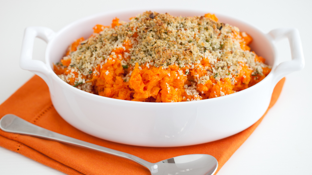 Yam and carrot bake.