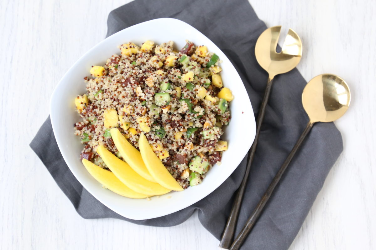 Colorful Quinoa and Pecan Salad.