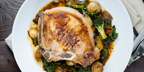 Pan Roasted Pork chop.