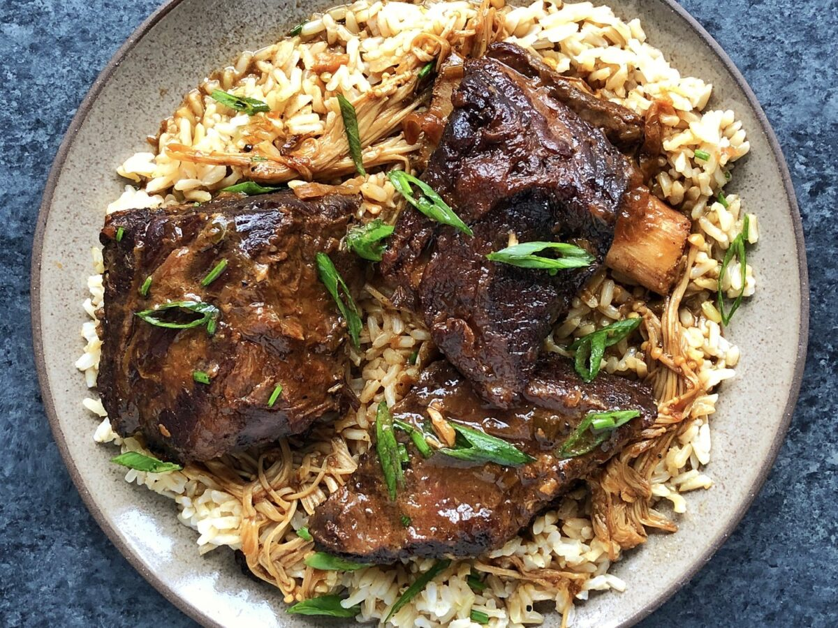 Delicious coconut-braised short ribs!